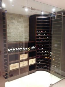wine room woodworking