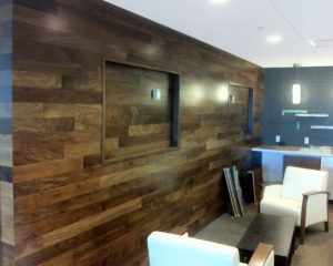 wood wall renovation